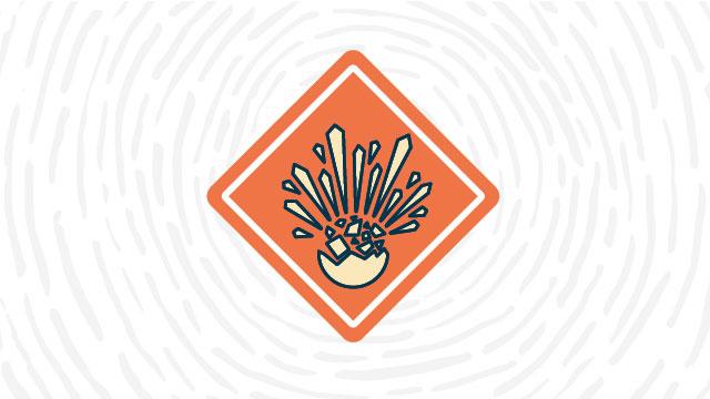 Explosive hazard lab safety symbol