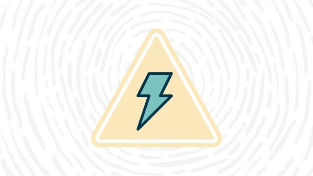 High voltage lab safety symbol