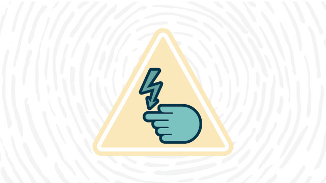 Electrical hazard lab safety symbol