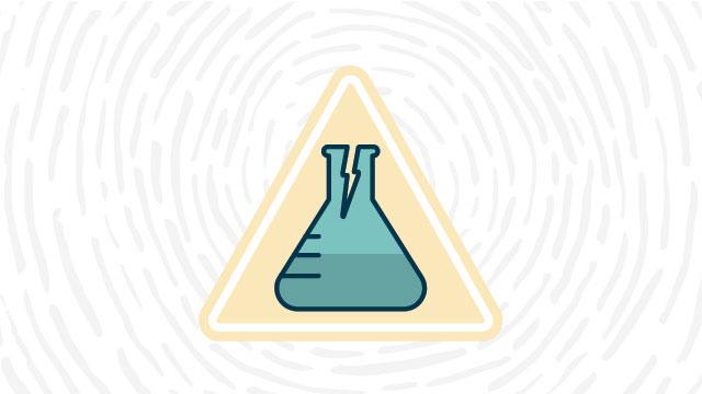 Glassware hazard lab safety symbol