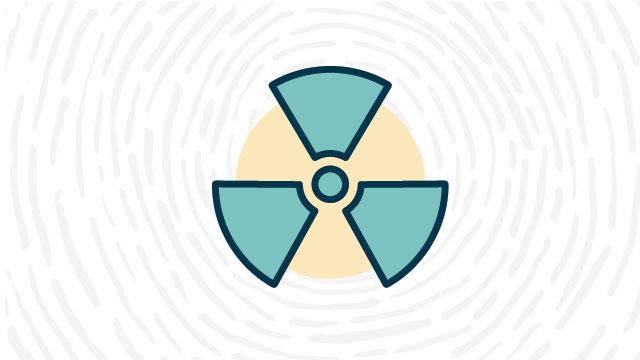 Ionizing radiation hazard lab safety symbol