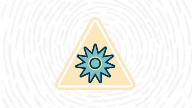 Optical radiation hazard lab safety symbol