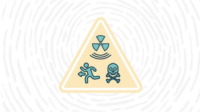 IEAE ionizing radiation hazard lab safety symbol