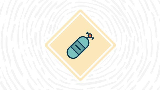 Compressed gas hazard lab safety symbol