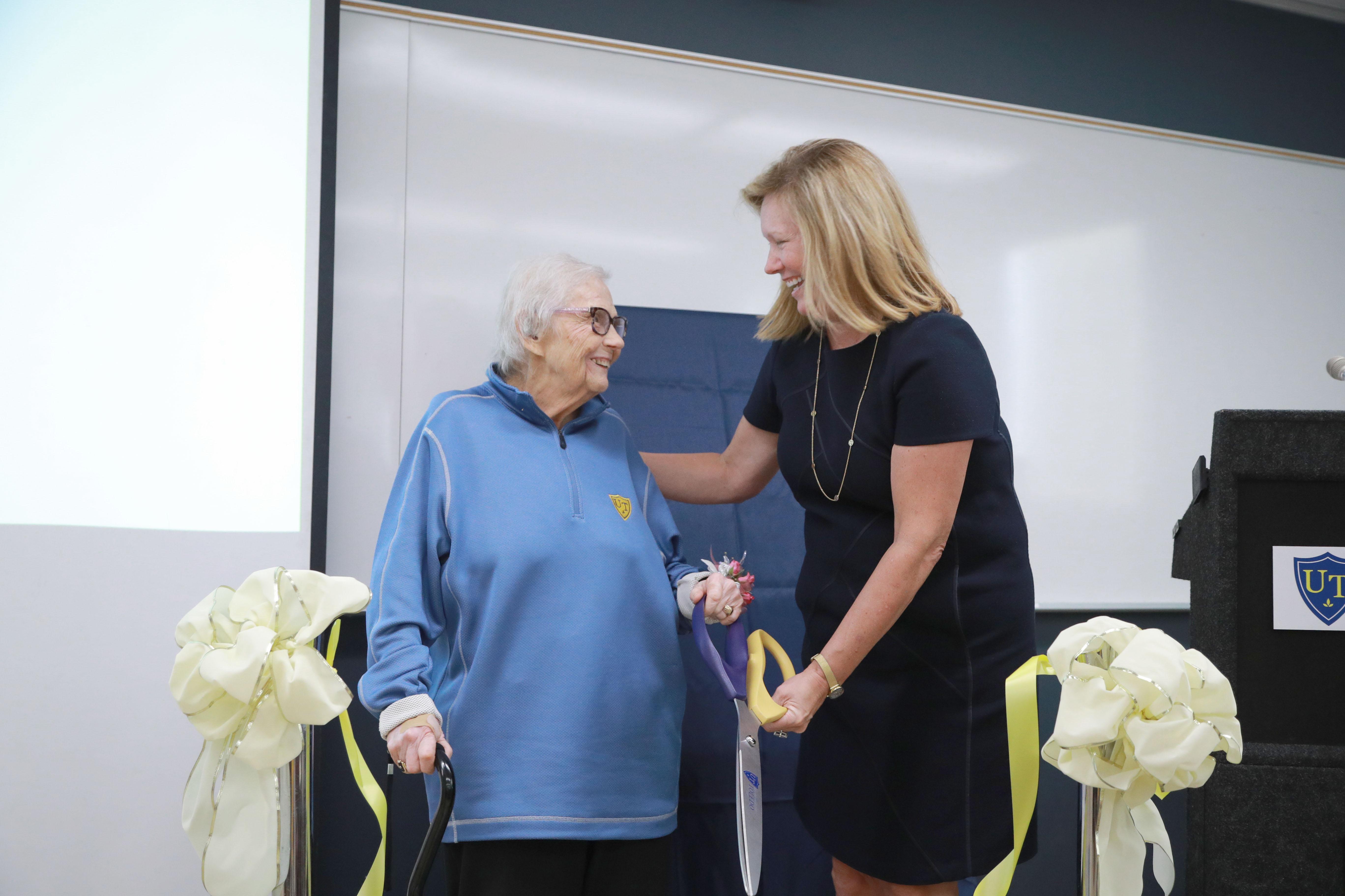 Dr. Nina McClelland and Dr. Sharon Gaber