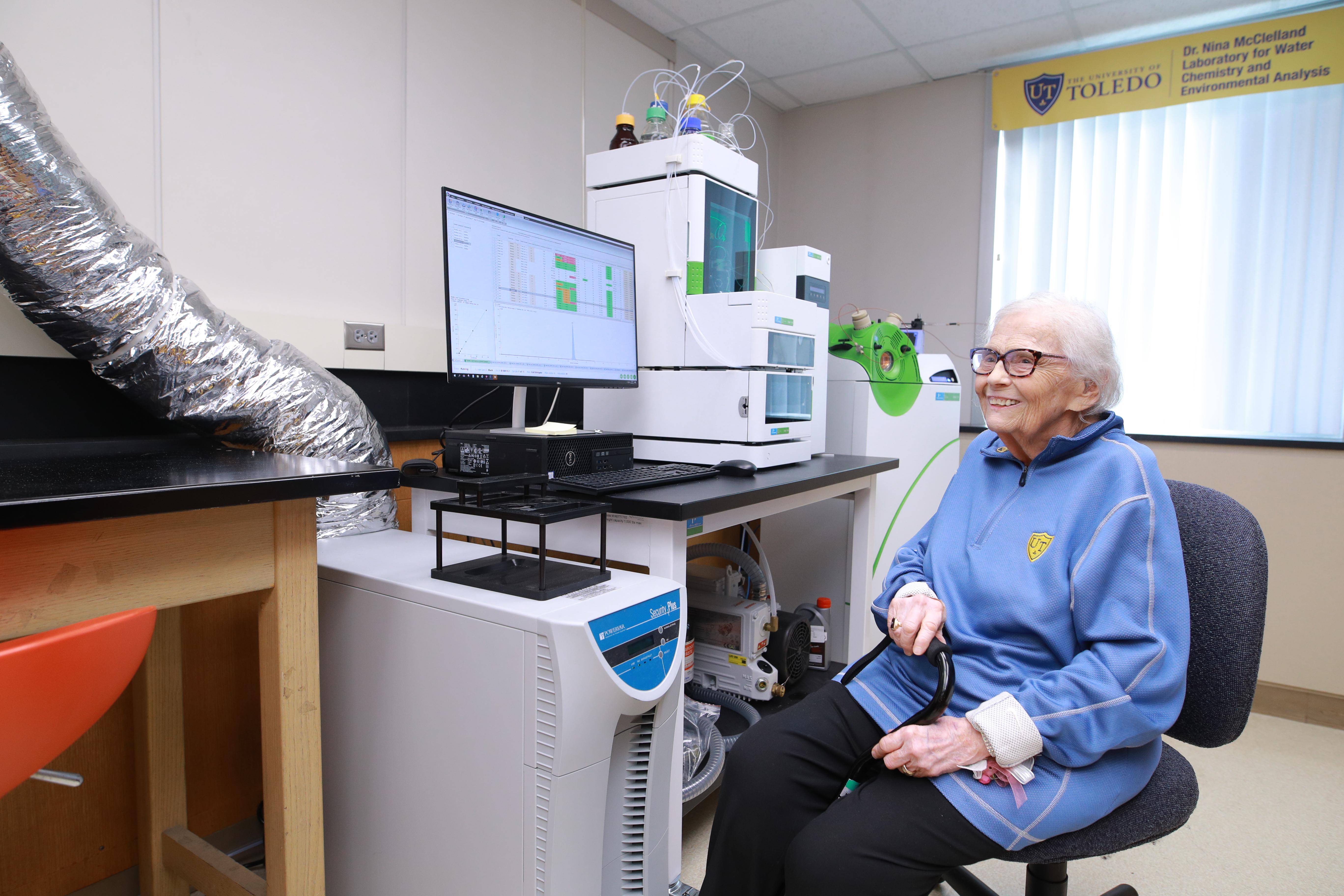 Dr. Nina McClelland in her namesake laboratory.