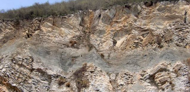 Outcrop found at sampling site China