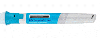 BD Intevia™ 1mL two-step disposable autoinjector