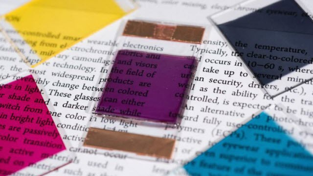 colors researchers have produced in electrochromic polymers