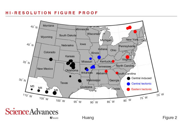 Human-induced and natural earthquakes in central U.S. are 'inherently similar'