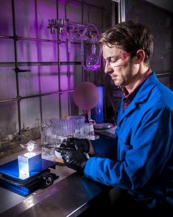 Sandia National Laboratories researcher Joey Carlson