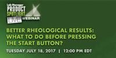 Better Rheological Results - What to Do Before Pressing the Start Button?