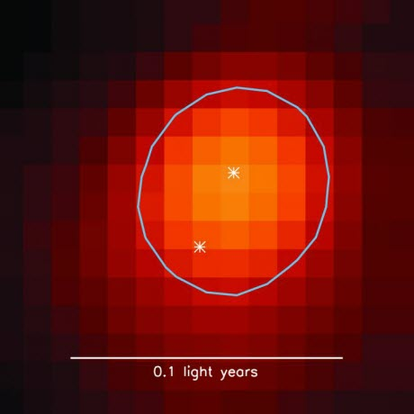 young binary star system