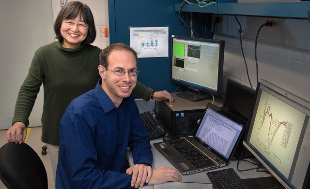 Etsuko Fujita and Gerald Manbeck of Brookhaven Lab