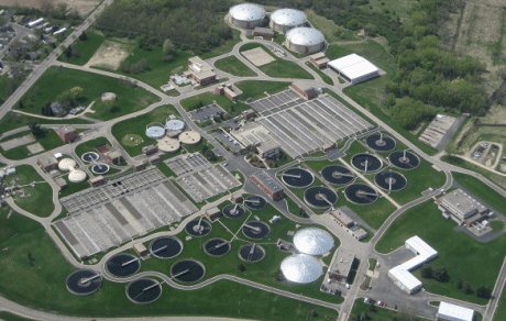 wastewater treatment plant in Madison, Wisconsin