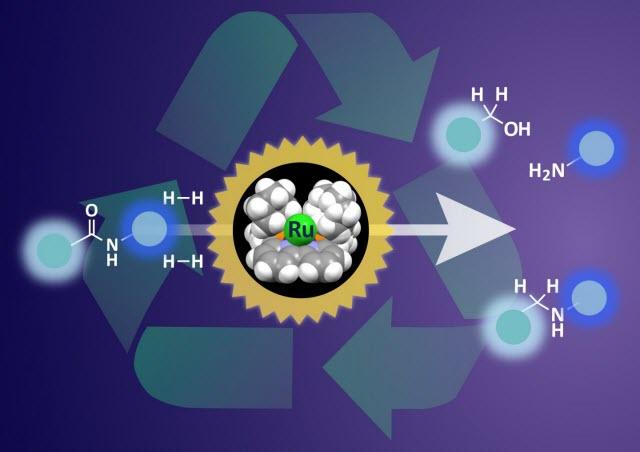 Design of a sterically confined bipyridine-ruthenium (Ru) framework