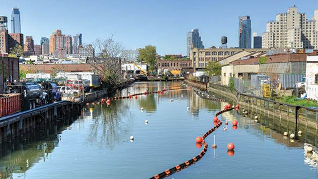 Gowanus Canal in Brooklyn, NY