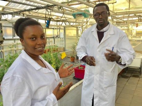 PhD students Mary Wang´ombe and Badou Mendy