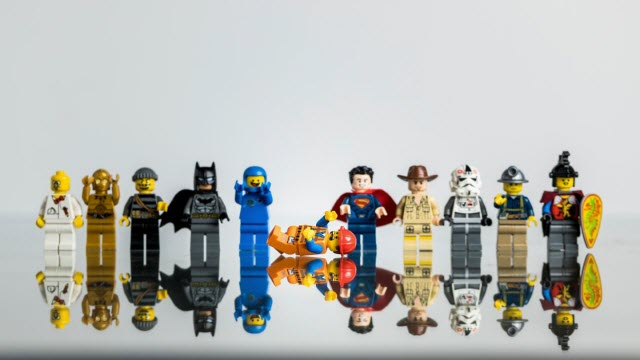 Toppling Lego Figures