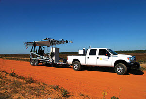 The CSU-MAPS unit shown ready to deploy