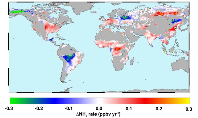 Atmospheric Ammonia Trends, 2002-2016