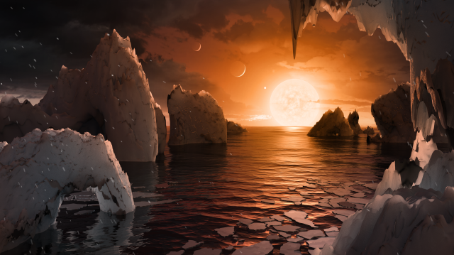 the possible surface of TRAPPIST-1f
