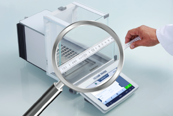 METTLER TOLEDO's XPR analytical balance has a small footprint