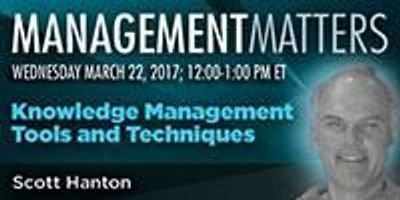 Webinar: Knowledge Management Tools and Techniques