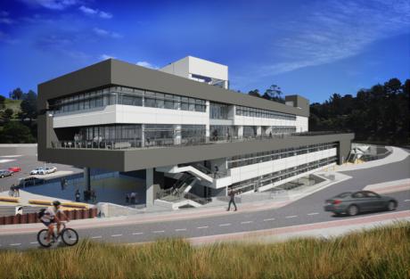 Rendering of the Integrative Genomics Building