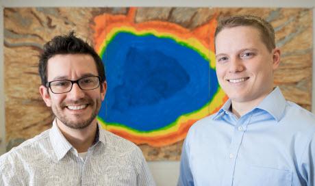 Danny Ducat, MSU assistant professor, and Derek Fedeson