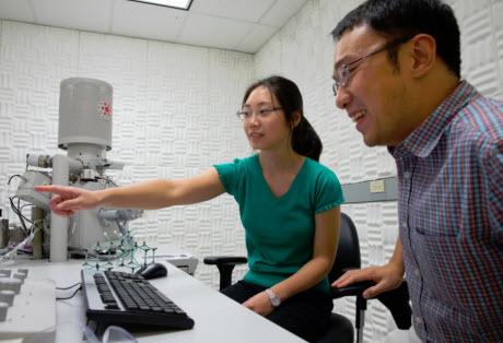 Stanford graduate student Fei Hua Li and postdoctoral researcher Hao Yan