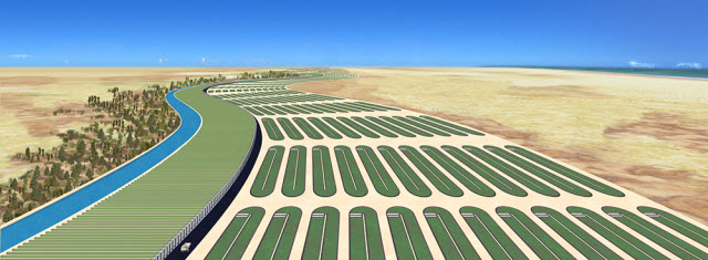 commercial algae harvesting facility concept