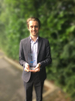Tom Wickstead of aport with the firm's latest award