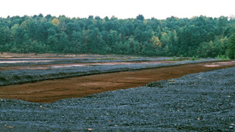 Acid mine drainage from pre-law coal mines