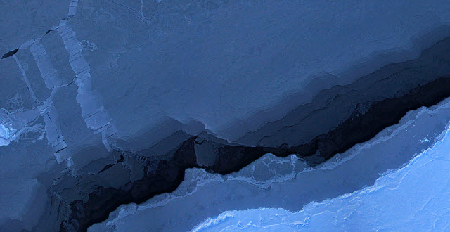 mosaic image of sea ice in the Beaufort Sea