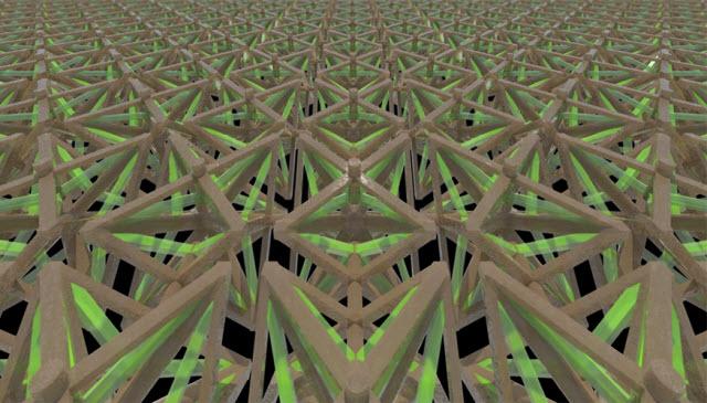 bi-material microlattice structure