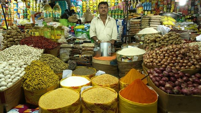 Turmeric in the Karwan Bazar of Dhaka, Bangladesh