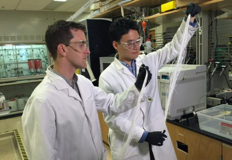 Georgia Tech assistant professor Ryan Lively and postdoctoral fellow Dong-Yeun Koh
