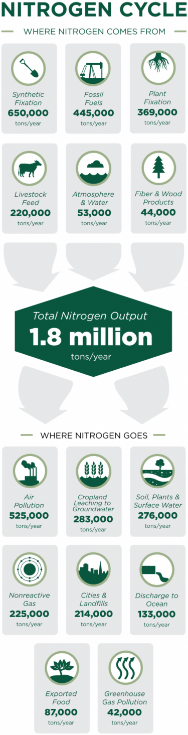 The ins and outs of nitrogen in California