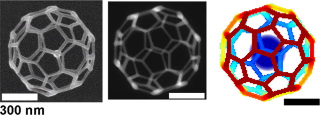 A 32-face 3-D truncated icosahedron mesh
