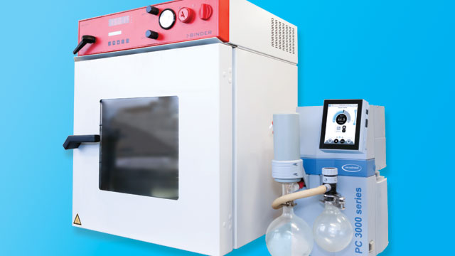 Vacuum Oven on Blue Background