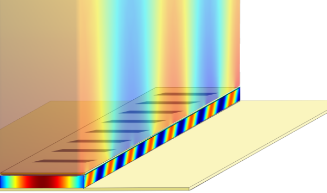 illustration of a terahertz plasmonic laser