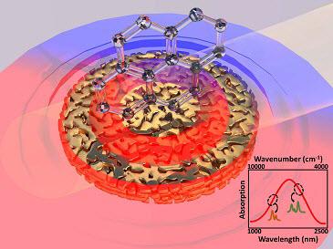 surface-enhanced near-infrared absorption spectroscopy