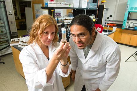 Erika Geisbrecht and Aaron Ortiz