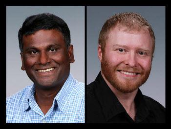 PNNL researchers Satish Nune and David Heldebrant