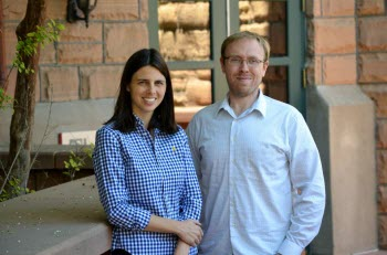 Assistant professor Sara Brownell and instructional professional Christian Wright