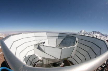 A view of the Atacama Cosmology Telescope in Chile's High Atacama Desert
