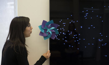 pinwheel interaction with screen