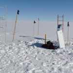 Research tower and sub-surface laboratory at Summit Camp on the Greenland Ice Sheet