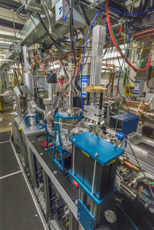 A view of the HiRES ultrafast electron diffraction (UED) beamline